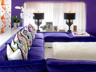 Purples can really jazz up a room